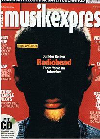 Musikexpress 2001 Heft 7 Sting  Faithless  Nick Cave  Tool  Wings  Radiohead  Iggy Pop  Bap  Stone Temple Pilots  Weezer  Jeff Lynne