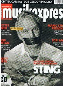 Musikexpress 2001 Heft 10 Echt  Sugar Ray  Bob Geldof  Prodigy  Fettes Brot  Bob Dylan  Macy Gray  Maniac Street Preachers  Tori Amos  Sting