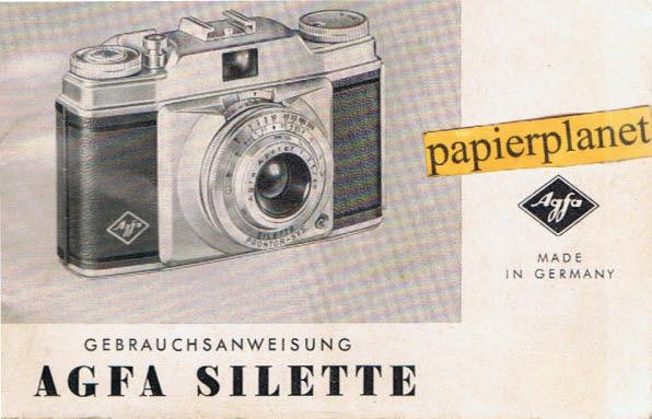 Agfa Silette Gebrauchsanweisung (1954)