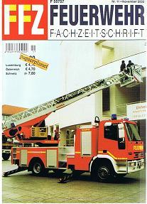 FFZ Feuerwehr Fachzeitschrift 2002 Heft 11 , Iveco-Magirus DLK 18-12 , LRF Feuerwehr Essen , Metz Drehleiterauslieferungen International, BFW Freizeitpark Rust, , Frauen in der Feuerwehr