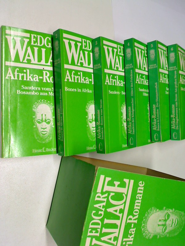 Afrika- Romane. Sechs (6) Bände im O-Schuber, (= komplett)  ; 3803640423