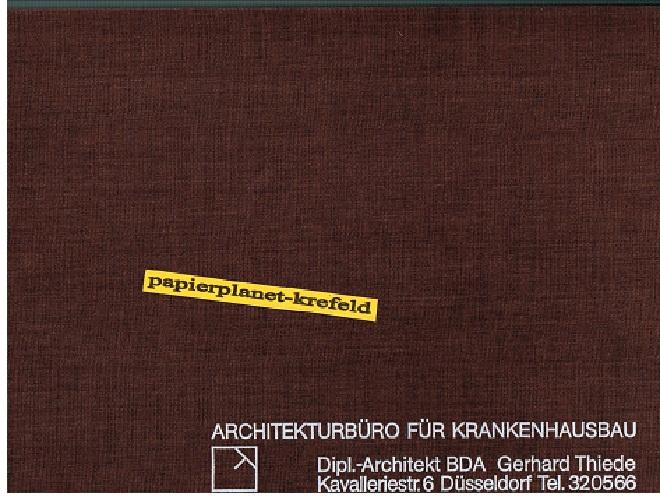 Architekturbüro für Krankenhausbau. Präsentation und Referenzen von 1959 bis 1976