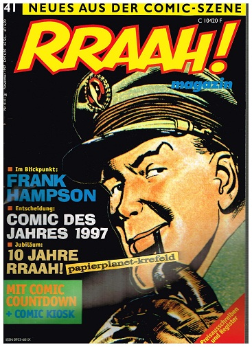Rraah ! Nr. 41: Frank Hampson, Neues aus der Comic-Szene, Nov 1997, Comic-Fachzeitschrift