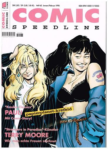 Comic Speedline 63 : Terry Moore , mit Pauli Comic , 1998 ( Comic-Fachmagazin)