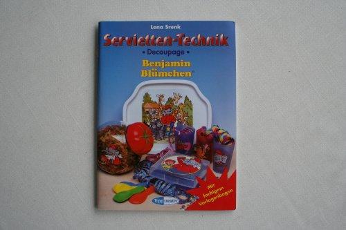 Servietten- Technik. Benjamin Blümchen. Decoupage