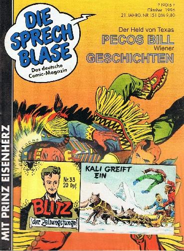 Cullen Murphy, John: Die Sprechblase 151 mit Prinz Eisenherz , Falk , mit Blitz Piccolo Nr. 33, 30.9.1996, Hethke Comics, Comic-Magazin