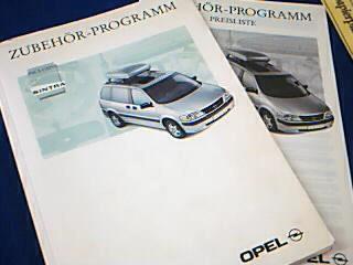 Opel Zubehör-Programm inclusive Sintra 1997, + Preisliste