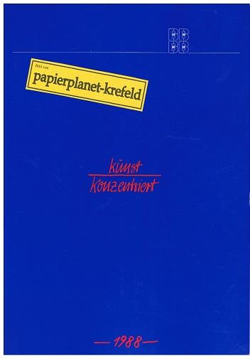 Berliner Kunstblatt Sonderheft 1988, Kunst Konzentriert