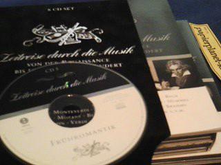 8 CDs Zeitreise durch die Musik, Von der Renaissance bis in das 20. Jahrhundert  4043002526204