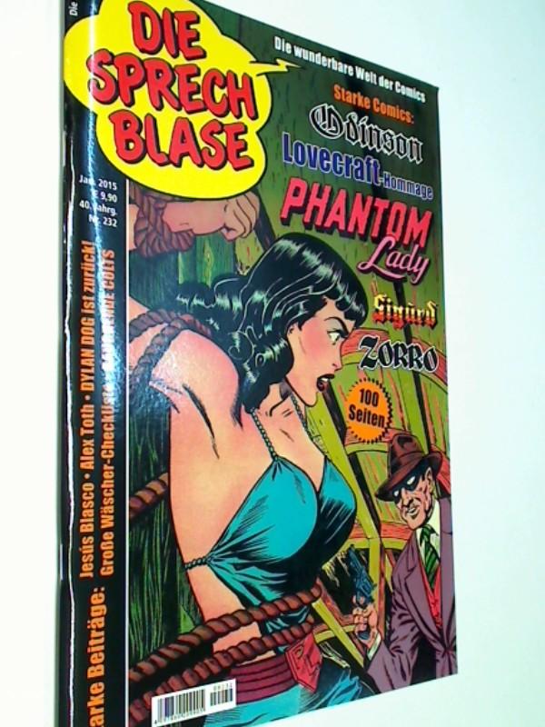 Die Sprechblase 232 mit Sigurd, PHANTOM LADY, Zorro, Odinson, Feb 2015,  Comic-Magazin