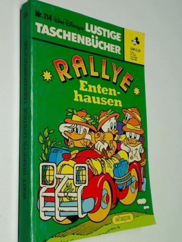Lustiges Taschenbuch LTB 114 Rally Entenhausen, 1. Auflage 15.8.1986,  Walt Disney Comic