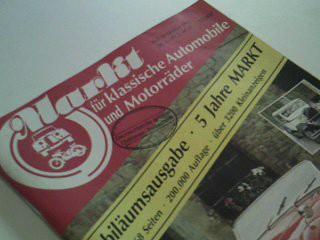Markt 1985 Heft 10, Jubiläumsausgabe. für klassische Automobile und Motorräder