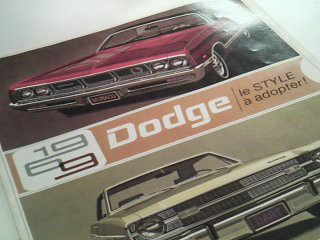 Dodge - Le style a adopter! - 1969
