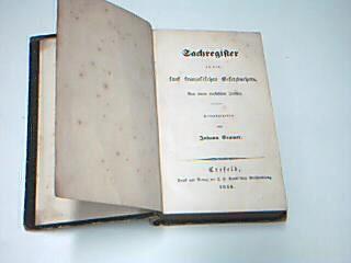 Krefeld - Cramer, Johann: Sachregister zu den fünf französischen Gesetzbüchern. Von einem praktischen Juristen. (1840)