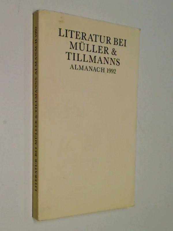 Literatur bei Müller & Tillmanns. Alamanach 1992