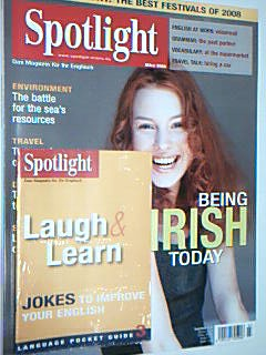 Spotlight Das Magazin für Ihr Englisch, März 2008, Being Irish today, mit Language Poacket Guide 3