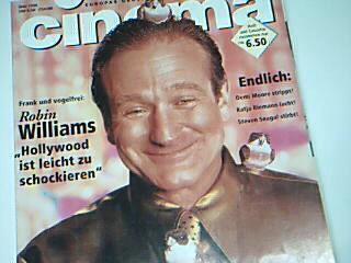 Cinema 1996 Nr. 5  Robin Williams Cover , 25.4.1996, Filmzeitschrift