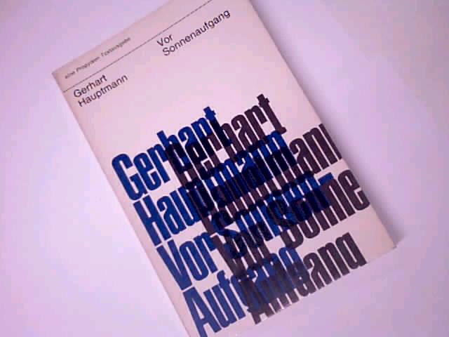 Vor Sonnenuntergang : Soziales Draman. Propyläen Taschenbuch 4979.