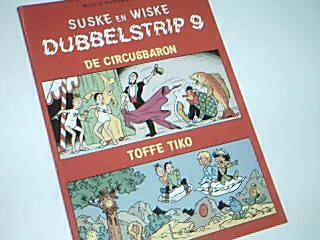 Vandersteen, Willy: Suske en Wiske Dubbelstrip 9 De circusbaron  Toffe Tiko , Comic Album ;  9002159617