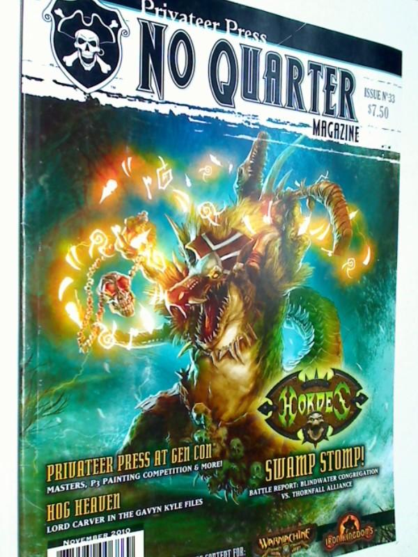 No Quarter Magazine: Issue 33 Swamp Stomp! , Nov 2010 ( Warmachine) 875582006869
