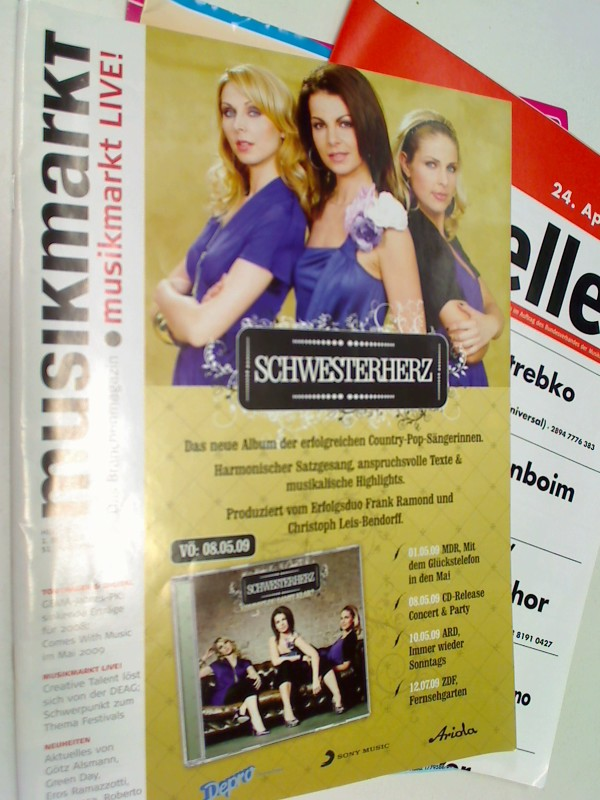 musikmarkt Live ! Das Brachenmagazin 2009 Heft 18 Schwesterherz - Cover