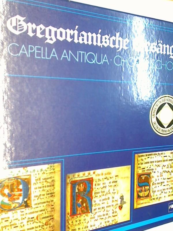 Choral Schola  der Capella Antiqua: Gregorianische Gesänge , 4x Vinyl LP in box, 880104