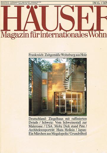 Häuser 1990 Heft 3 Zeitgemäße Wohnburg aus Holz, Architektenporträt Hans Hollein, Magazin für internationales Wohnen  (Ein Journal von Schöner Wohnen) Aus aller Welt: Wohnideen für Individualisten.