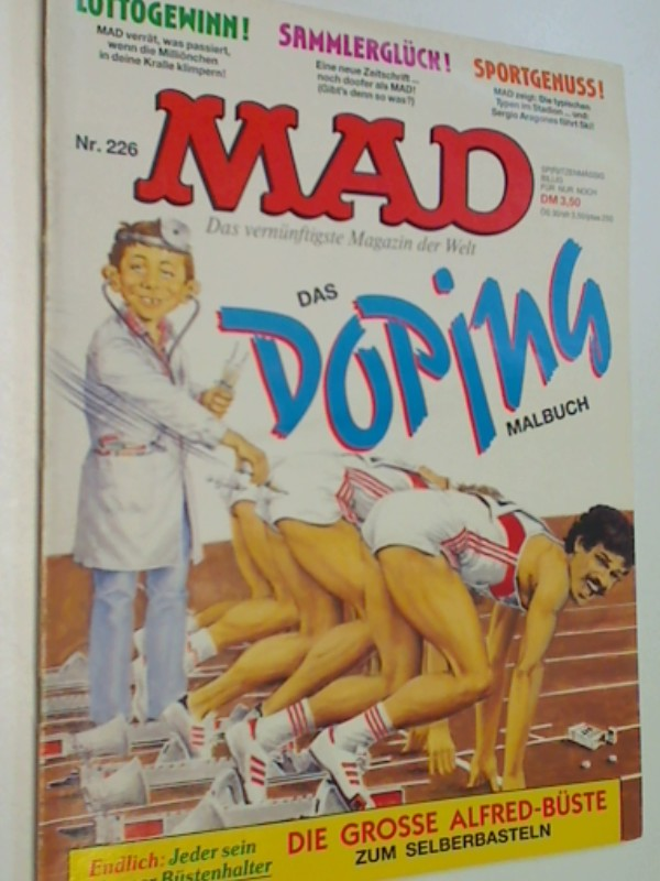 MAD 226 Das Doping Malbuch,  Williams Comic-Magazin