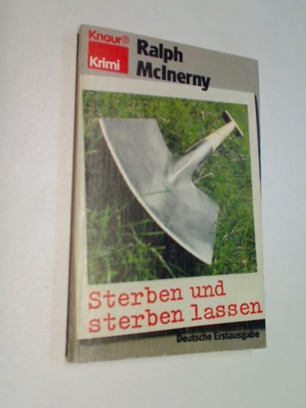 Sterben und sterben lassen. Kriminalroman.  ERSTAUSGABE 1980