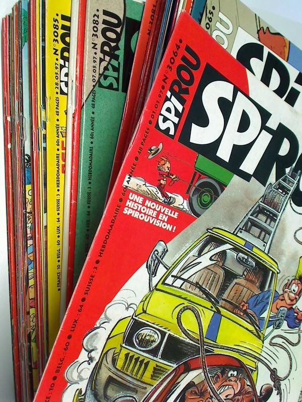 Spirou Jahrgang 1997 nr 3064 bis 3116 komplett , mit Docteur Poche, Garage Isidore,  Melusine, Französisches Comic-Magazin , Set Sammlung Konvolut 3793251010009