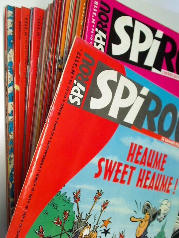 Spirou Jahrgang 1998 nr 3117 bis 3168 komplett , mit Die Schlümpfe, Ramsesland, Ludo,  Französisches Comic-Magazin , Set Sammlung Konvolut 3793251010009