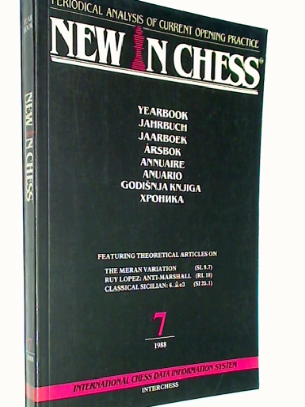 New in Chess Yearbbok Jahrbuch 7 / 1988 Periodical Analysis of current opening Practice , ( Schach-Buch 9071689077  9789071689079 )