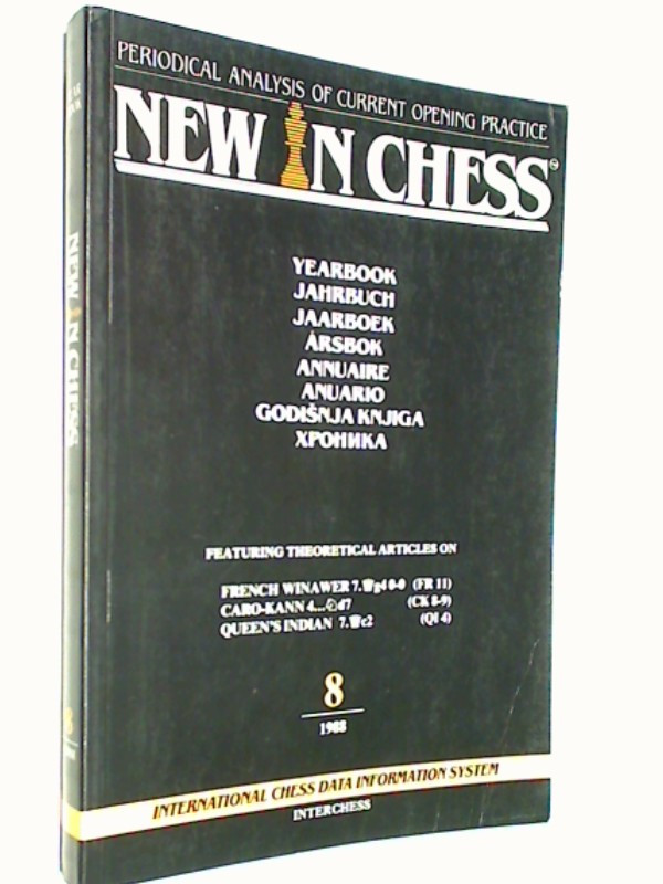 New in Chess Yearbbok Jahrbuch 8 / 1988 Periodical Analysis of current opening Practice , ( Schach-Buch 9071689107  )