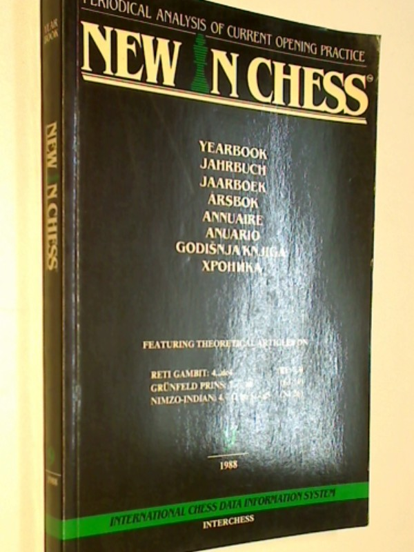 New in Chess Yearbbok Jahrbuch 9 / 1988 Periodical Analysis of current opening Practice , Reti Gambit, Grünfeld Prins.., ( Schach-Buch 9071689123 )