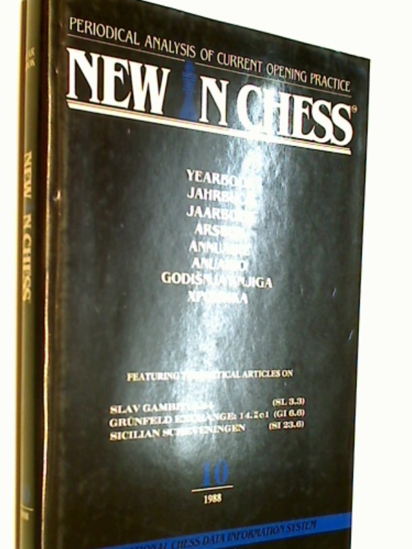 New in Chess Yearbbok Jahrbuch 10 / 1988 Periodical Analysis of current opening Practice , Slav Gambit, Grünfeld Exchange..( Schach-Buch 9789071689130 9071689131 )