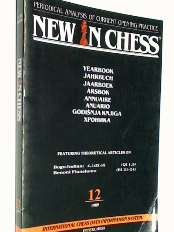 New in Chess Yearbbok Jahrbuch 12 / 1989 Periodical Analysis of current opening Practice. Bogo-Indian, Benoni Fianchetto ( Schach-Buch 9071689182, 9789071689185 )