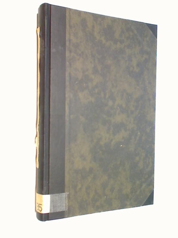 Zeitschrift des Aachener Geschichtsvereins. Fünfunddreissigster (35.) Band  Erste Hälfte und Zweite Hälfte (1913)