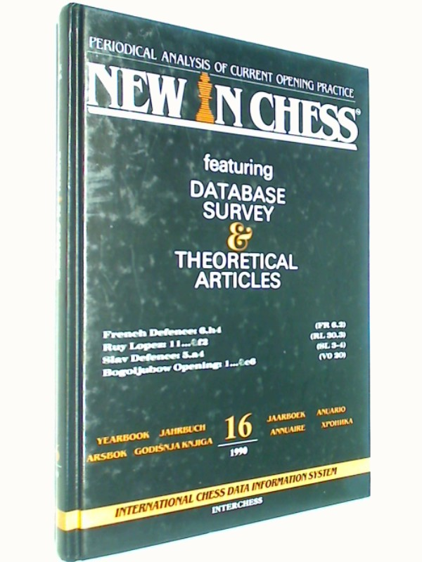 New in Chess Yearbbok Jahrbuch 16 / 1990 Periodical Analysis of current opening Practice. Ruy Lopez, Bogoljubow Opening ( Schach-Buch 907168298 )