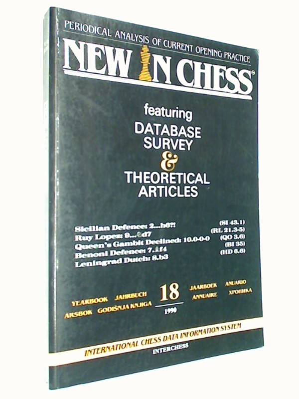 New in Chess Yearbbok Jahrbuch 18 / 1990 Periodical Analysis of current opening Practice. Sicilian Defence; Ruy Lopez; Queen