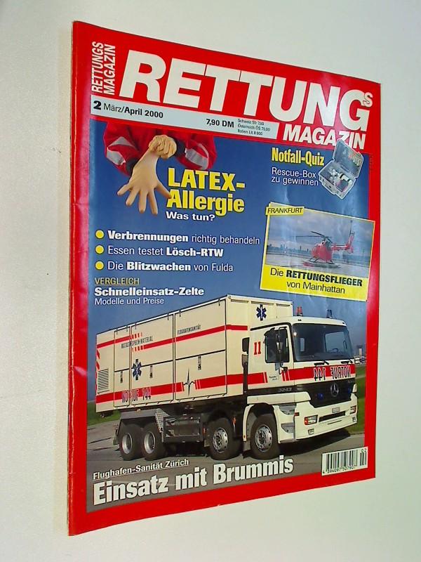 Rettungs-Magazin 2000 Heft 2 Flughafen-Sanität Zürich, Die Rettungsflieger von Mainhattan Frankfurt. Die Blitzwachen von Fulda. Zeitschrift 4394097507907