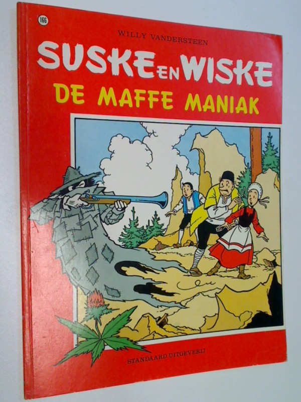 Vandersteen, Willy: Suske en Wiske 166 De Maffe Maniak, Comic Album , ERSTAUSGABE 1977 ; 9002137117