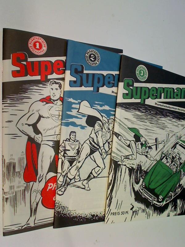 Supermann Phantastische Geschichten Heft 1, 2, 3 ,= komplett, limitierter Reprint Nachdruck  Nostalgie  DC Comic-Heft, Set Sammlung Konvolut