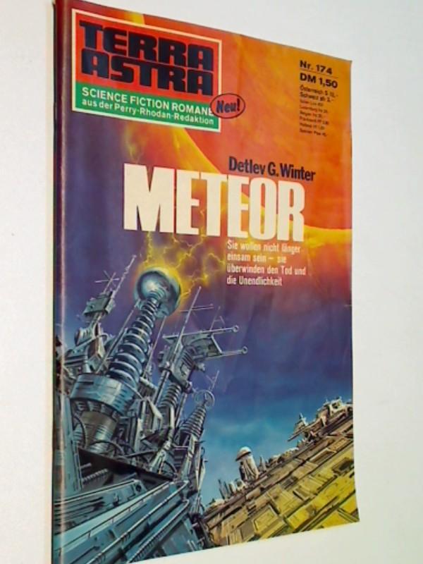 Terra Astra Heft Nr. 174 Meteor , Science Fiction Roman-Heft, signiert
