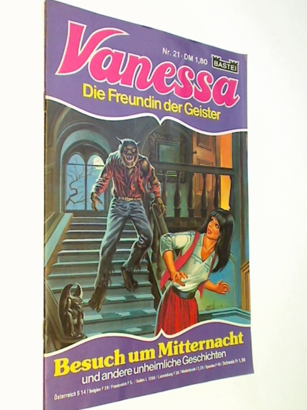 Vanessa Nr. 21 (Die Freundin der Geister) Bastei  Comic-Heft, ERSTAUSGABE 1982