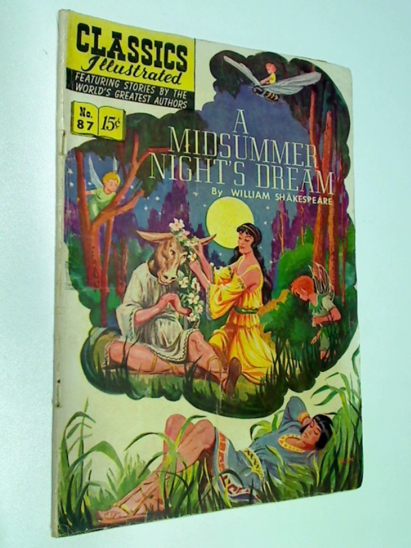 Classics Ilustrated No 87 A Midsummer Nights Dream, ( HRN 87) Sept 1951, US  Comic-Heft, ERSTAUSGABE