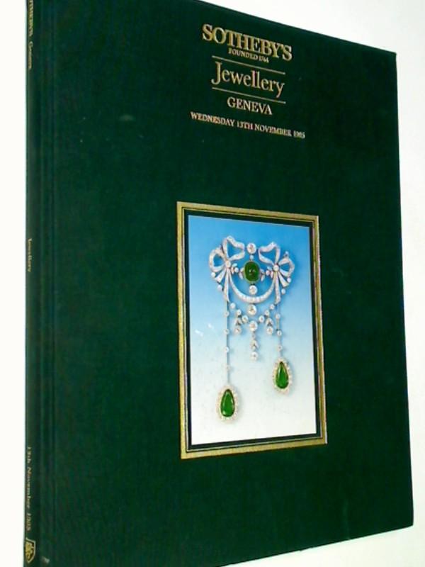 Sothery´s Founded 1744, Jewellery Geneva Wednesday 13th November 1985