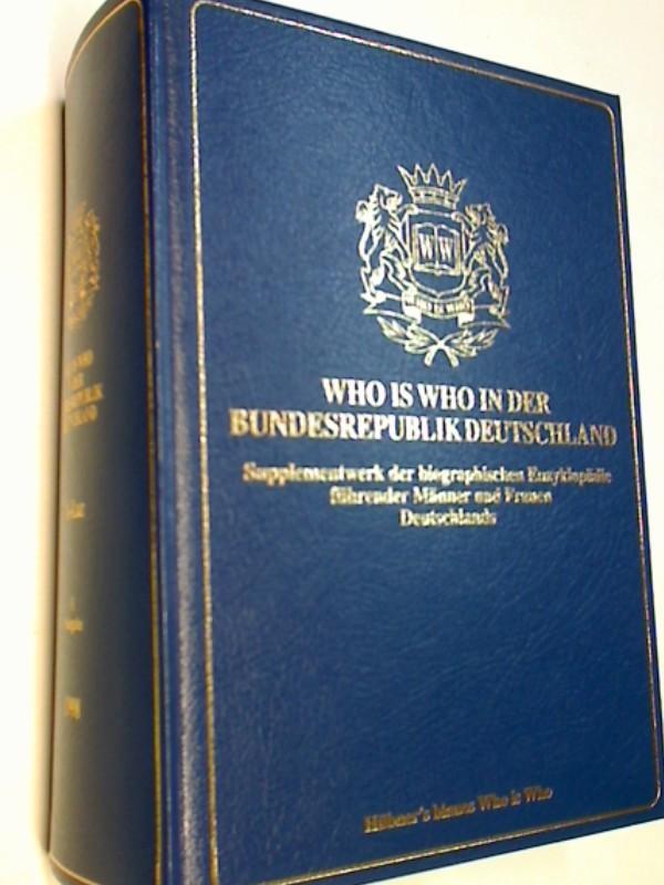 Who is Who in der Bundesrepublik Deutschland. Supplementwerk. A-Laz ( V. Ausgabe 1998)