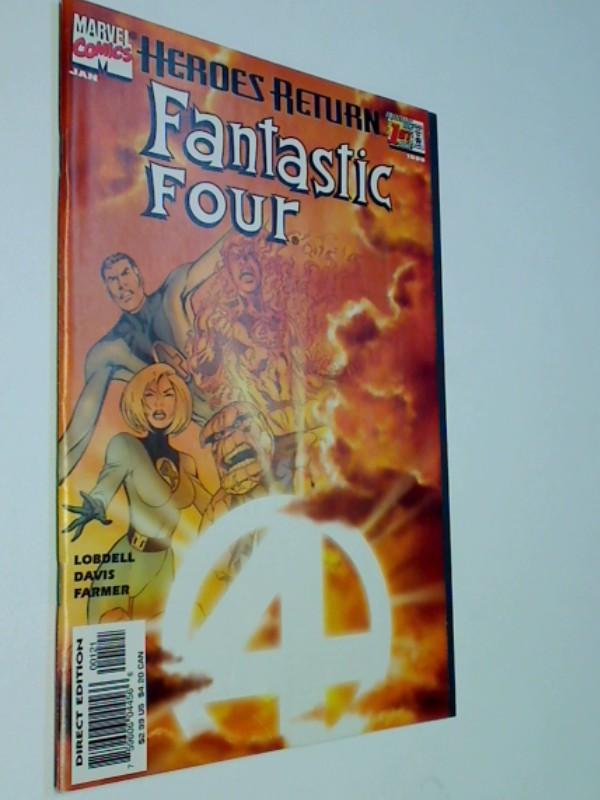 Fantastic Vol. 3 No. 1, Variant-Cover, Heroes Return, US Marvel Comic-Heft, ERSTAUSGABE Jan 1998,