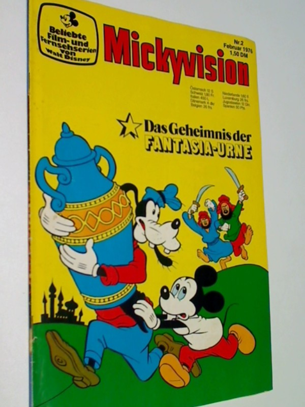 Mickyvision 1976 Nr. 2 Das Geheimnis der Fantasia-Urne, Ehapa Disney Comic-Heft