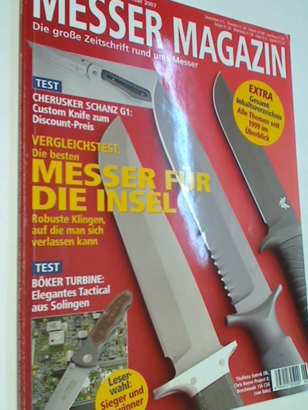 Messer Magazin Nr. 6 / 2006 Test: Cherusker Schanz G 1 , Böker Turbine ; Jukka Hankala ; Manufaktur Muela ; CRKT Sting.  Die große Zeitschrift rund ums Messer. 4195012305000